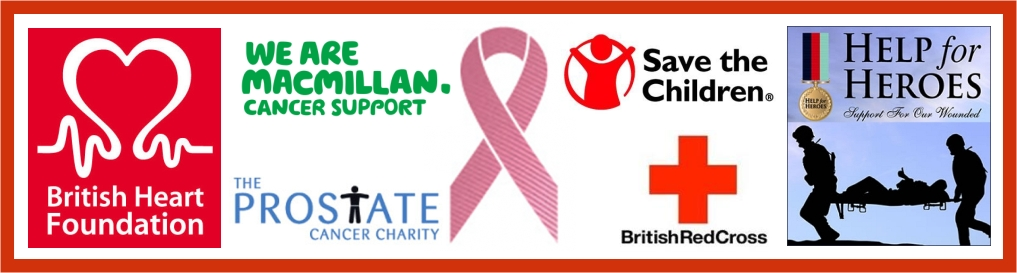 British Heart Foundation, Macmillan, Prostate, Red Cross, Help for Heroes are just some of the charities we have supported.